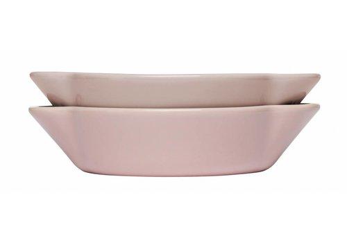 Sagaform Sagaform Piccadilly set van 2 ovenschotels roze