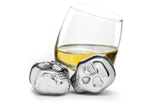 Sagaform Sagaform Club Set of 2 Scull Head Drink Stones