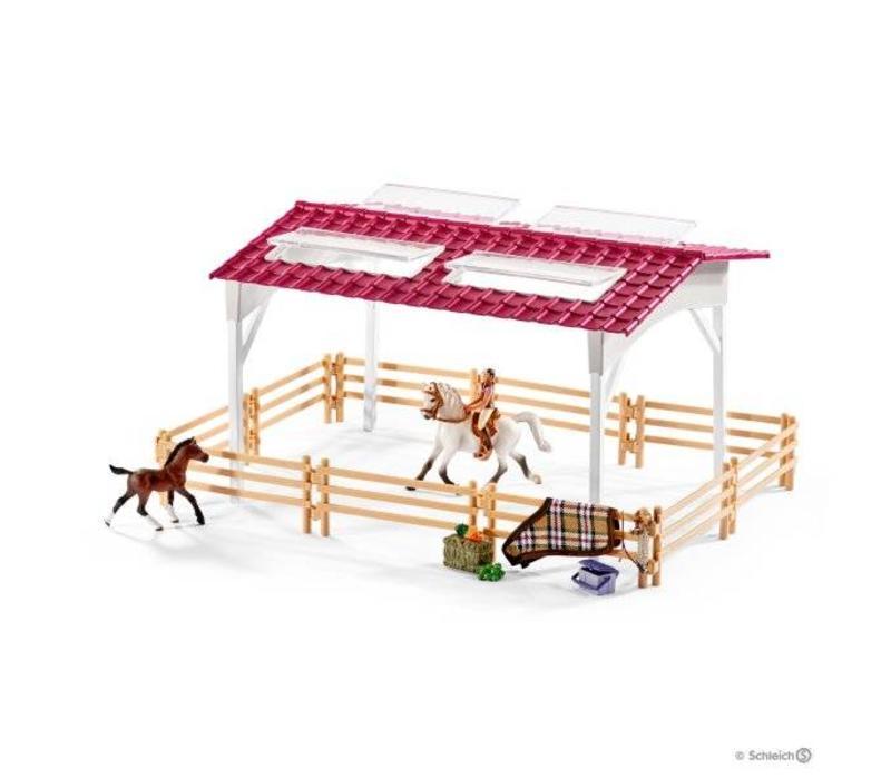 Schleich Manege Met Ruiter en Paarden