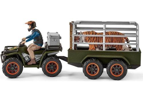 Schleich Schleich Quad met Aanhangwagen en Ranger