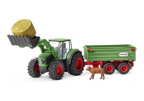Schleich Schleich Tractor Met Aanhangwagen