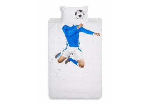 Snurk Snurk dekbedovertrek Soccer Blue 140 x 200/220
