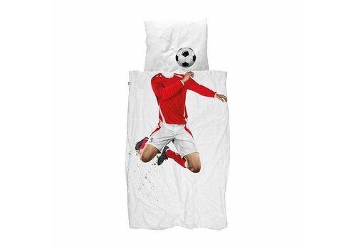Snurk Snurk dekbedovertrek voetbal rood