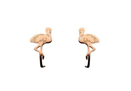Sweet Deluxe Sweet Deluxe Oorbellen Flamingo Koper