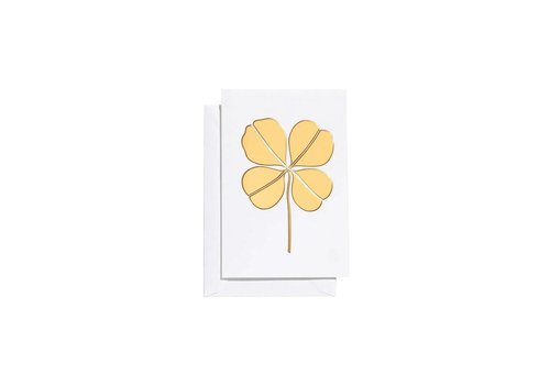 Vitra Vitra Greeting Card Small Four Leaf Clover Gold