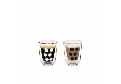 Zak! Designs Zak! designs Dot dot dubbelwandige espressoglazen set van 2