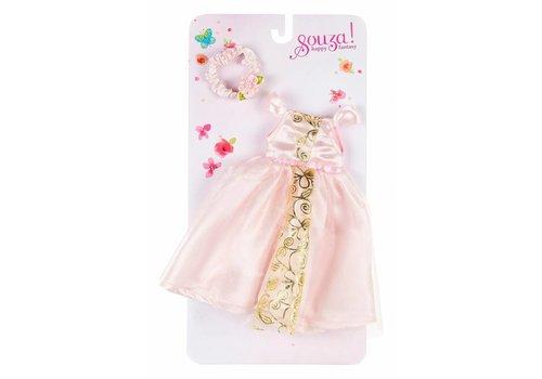 Souza! Souza! Poppenkleding Ameline Jurk & Haarband Licht Roze