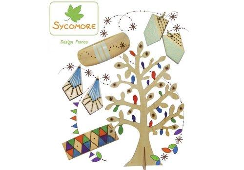 Sycomore Sycomore Pyrography Juwelry Tree
