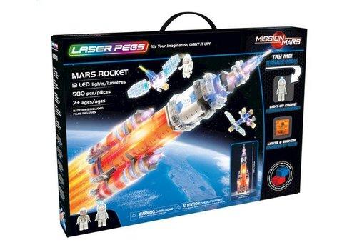 Laser Pegs Mission Mars - Mars Rocket