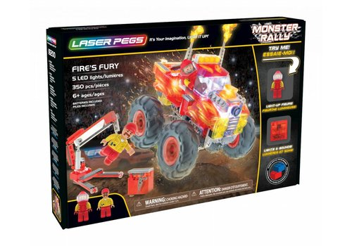 Laser Pegs Monster Rally Fire's Fury