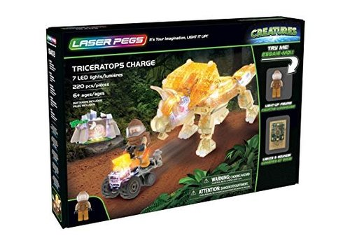 Laser Pegs Creatures Triceratops Charge