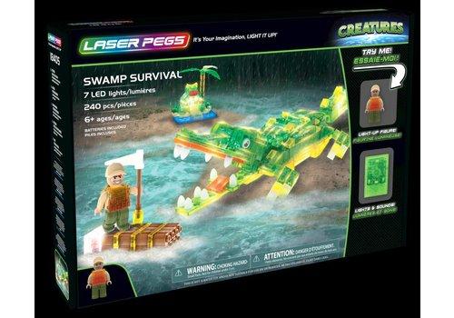 Laser Pegs Creatures Swamp Survival Aligator