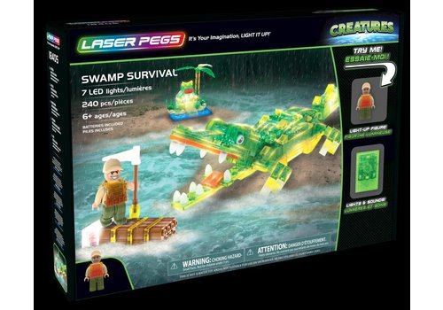 Laser Pegs Laser Pegs Creatures Swamp Survival Aligator