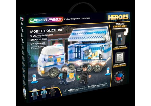 Laser Pegs Laser Pegs Heroes Politiewagen