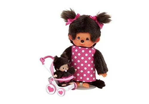 Monchhichi Monchhichi Mother and Child With Stroller