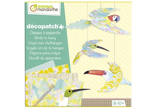 Avenue Mandarine Avenue Mandarine Décopatch Birds To Hang DIY Kit