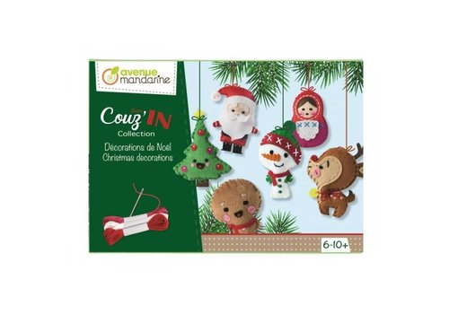 Avenue Mandarine Avenue Mandarine Mini Couz'In Collection Kerstdecoratie Set