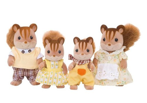 Sylvanian Families Sylvanian Families Walnut Squirrel Family