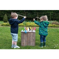 Scratch Set of 6 Fishing Ducks with 2 Fishing Rods