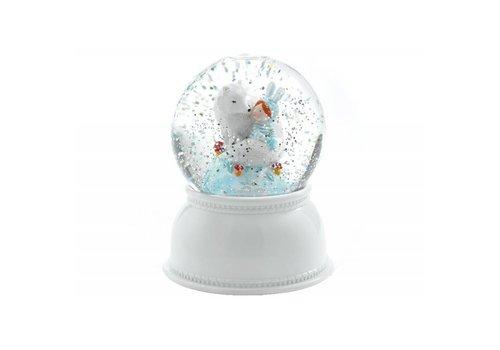 Djeco Djeco Nachtlamp Sneeuwbol Lila & Puppy