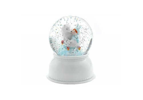 Djeco Djeco Sneeuwbol Nachtlamp Lila & Puppy
