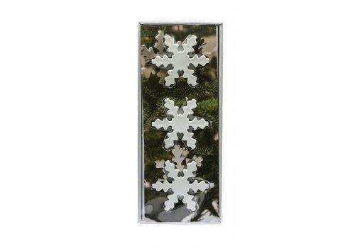 Sagaform Sagaform Keramieken Kerstboomdecoratie Snowflake 3-pack
