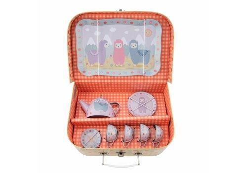 Sass & Belle Sass & Belle Little Llama Picnic Box Tea Set