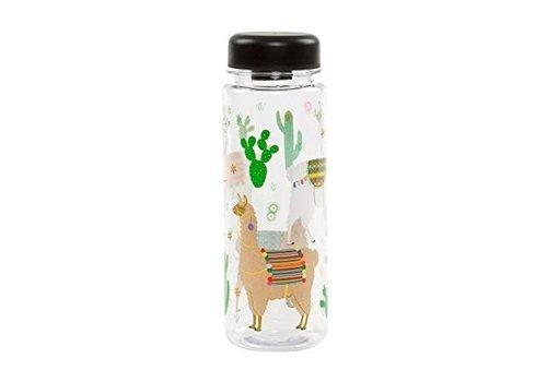 Sass & Belle Sass & Belle Lima Llama Clear Water Bottle