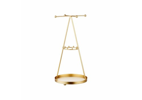 Sass & Belle Sass & Belle Gold Pyramid Jewellery Stand