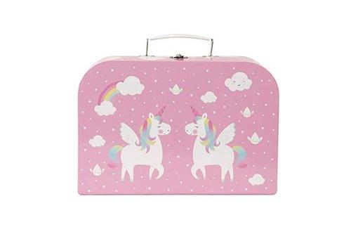Sass & Belle Sass & Belle Rainbow Unicorn Picnic Koffer Thee Set