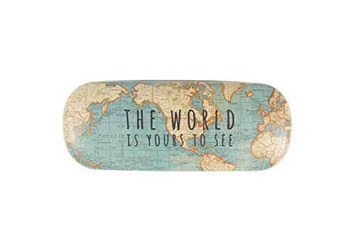 Sass & Belle Sass & Belle Vintage Map Glasses Case