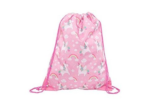 Sass & Belle Sass & Belle Rainbow Unicorn Drawstring Bag