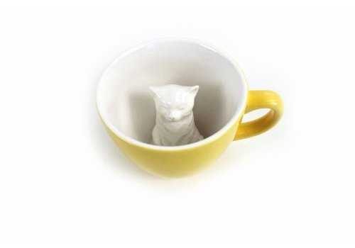 Creature Cups Creature Cups Cat Yellow