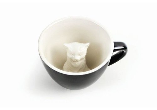Creature Cups Creature Cups Cat Dark Grey
