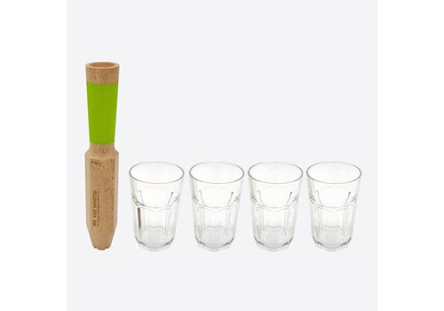 Cookut Cookut Morry Cocktail Stamper Mojito 4 in 1 en 4 Glazen