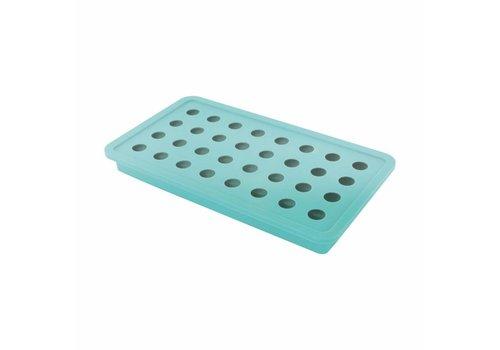 Dotz Dotz Ijsblokjesvorm voor 32 ijsparels Aquablauw