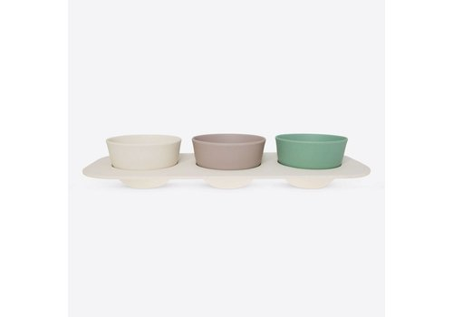 Point-Virgule Point Virgule 4-piece Bamboo Fiber Snack Plate Set