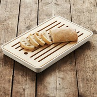 Point Virgule Bamboo Bread Board With Bamboo Fiber Container 43x26x4,3 cm