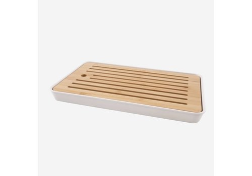 Point-Virgule Point Virgule Bamboo Bread Board With Bamboo Fiber Container 43x26x4,3 cm