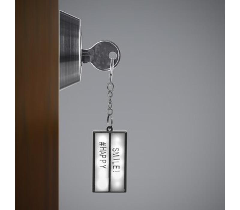 Balvi Keyring Lightbox Black with Light