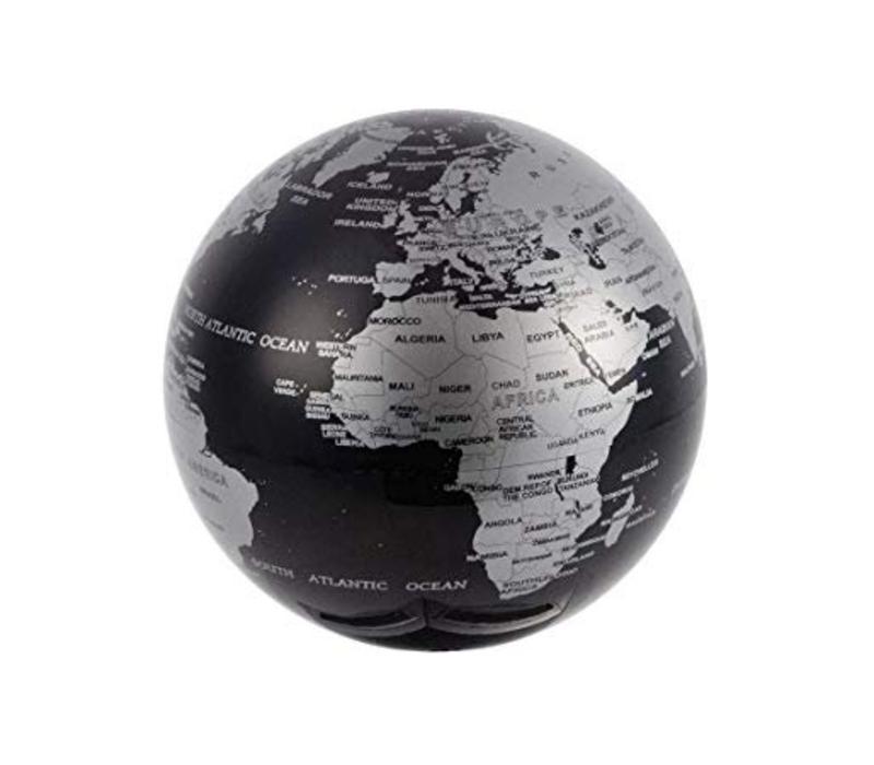 Balvi Magische Roterende Globe 360° Zwart