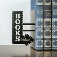 Balvi Bookend Bookshop Black