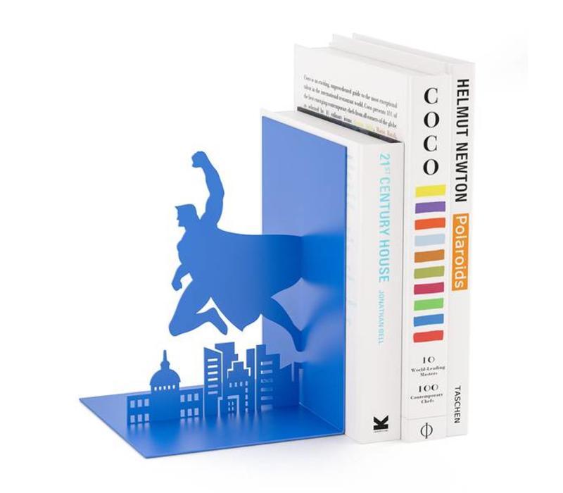 Balvi Boekensteun Superheld Blauw
