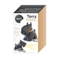 Balvi Keychain Terry with Sound & Light Black