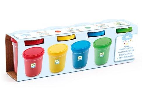 Djeco Djeco Boetseerklei - 4 potten - blauw, groen, geel, rood