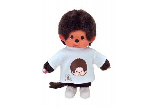 Monchhiichi Monchhichi Jongen Met T-Shirt Wit 20 cm