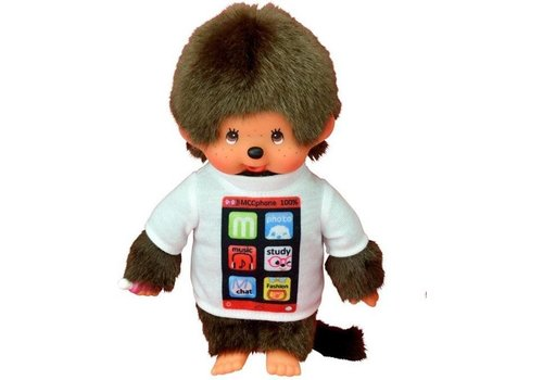 Monchhiichi Monchhichi Jongen Met T-Shirt Smartphone 20 cm