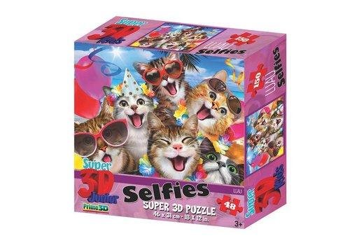 Prime3D Prime 3D Puzzel Selfie Cats 48 st