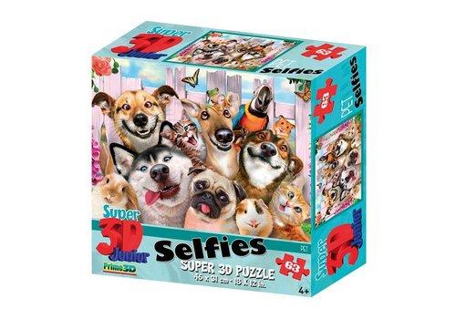 Prime3D Prime 3D Puzzel Selfie Pets 63 st