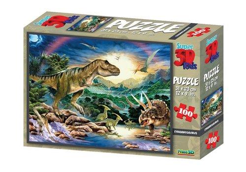 Prime3D Prime 3D Puzzel Tyrannosaurus 100 st